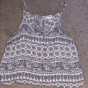 summer. blue and white top. never worn.